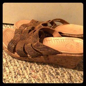 Crocs sandals with slight heal